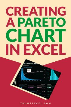 Pareto chart is quite commonly used in business presentations. It's based on the 80/20 rule where you focus on 20% of the issues to get 80% of the impact.    In this tutorial I'll show you how to create a pareto chart in Excel (Static as well as Dynamic)    #Excel #ExcelTips #MSExcel #ParetoChart Pareto Rule, Excel For Beginners, Excel Hacks, Pivot Table, Computer Tips, Charts And Graphs, Microsoft Excel, Business Presentation, Business Opportunities
