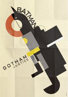 Art deco Batman poster