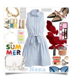"""""""Summer Shirtdress"""" by delunaray ❤ liked on Polyvore featuring Milly, BCBGMAXAZRIA, MICHAEL Michael Kors, De Siena, Mosevic, Tiffany & Co., Dolce&Gabbana, Marc Jacobs, Kate Spade and shirtdress"""