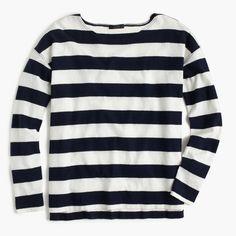 deck-striped t-shirt {navy ivory}
