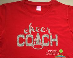 CHEER COACH glittery semifitted sparkle tee shirt by RiverImprints, $17.00