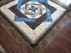 Sue Daurio's Quilting Adventures: Labyrinth Done - updated Star Quilts, Easy Quilts, Labrynth Quilt Pattern, Cathedral Windows, Fabric Ribbon, Square Quilt, Machine Quilting, Background Patterns, Quilting Designs