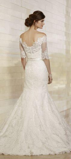 Gorgeous lace back by Essense of Australia 2013