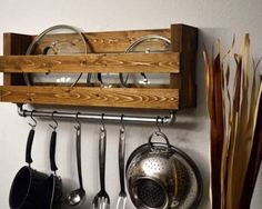 etsy wall pot lid rack - Google Search