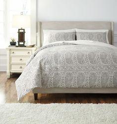 Paisley Gray King Comforter Set