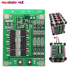 US $2.03 (Rs.132)  3S 25A Li ion 18650 BMS PCM Battery Protection Board With Balance For Li ion Lipo Battery Cell Pack-in Integrated Circuits from Electronic Components & Supplies on Aliexpress.com | Alibaba Group