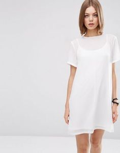 ASOS Sheer Shift Dress