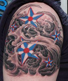 Nautical tattoo by Graham Fisher of Hot Rod Tattoo in Blacksburg, VA.