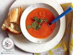 سوپ گوجه فرنگی ادویه دار