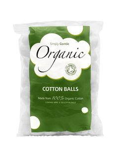 Organic Cotton Wool Balls - perfect for a multitude of uses for babies, children, and the parents. Organic, pesticide free.