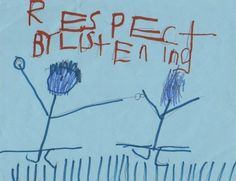 """A fun activity with youngsters to promote behavior is to have them listen and dance to a song then draw a picture about it.  Children listened to """"Respect"""" by Aretha Franklin then drew how they could show respect.:"""