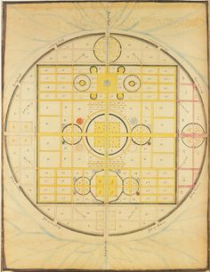 spiritual map, the holy city, 1843, polly jane reed    from heavenly visions: shaker gift drawings and gift songs in 1795