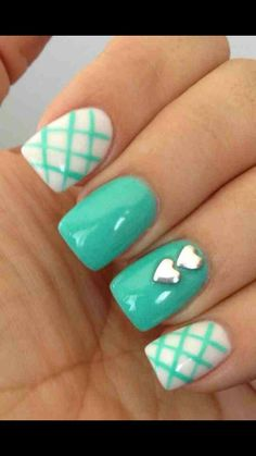 Turquoise nd white