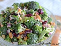 Dressing  3/4 cup Real mayonnaise  1/4 cup Sugar  2 tablespoons Red wine vinegar  1 teaspoon Dried tarragon  Salt and pepper to taste  Salad  2 Small heads of broccoli  1 Medium red onion, chopped  1/2 pound Bacon (applegate preferred)  3/4 cup Cashews, chopped or halved  1 cup Smoked white cheddar  3/4 cup Dried cranberries