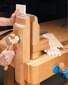 morsa de marceneiro feito com madeira ( projeto p/ fabricar)