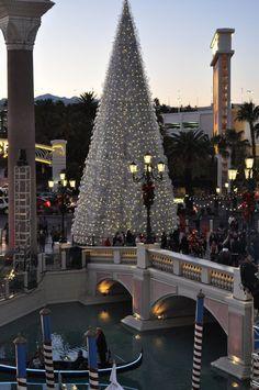 Christmas at the Venetian Hotel, Las Vegas, Nevada, USA
