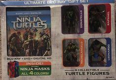 TMNT Blu Ray Dvd Teenage Mutant Ninja Turtles Ultimate Gift Set New