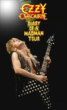 Randy Rhoads Live Stand-Up Display Heavy Metal Rock, Heavy Metal Music, Metal Bands, Rock Bands, Diary Of A Madman, Black Label Society, Ozzy Osbourne, Black Sabbath, Music Stuff