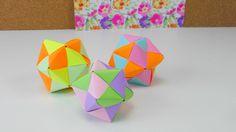 Origami Stern Ball Falten Tutorial modular 12 Star Folding Tutorial / Or...
