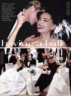 """Having a Ball"" by Steven Meisel for Vogue US December 1997"