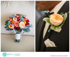 Combining bouquet and boutonnier