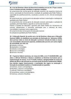 50 Questões LDB - Pedagogia Concursos E Book, 1, Tablet, Words, Early Childhood Education, School, Quizes, Rolodex, Metals