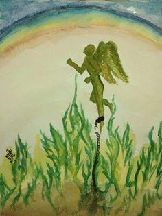 """""""Wings of Liberation""""    Harinarayan Sreenivasan Watercolor Painting."""