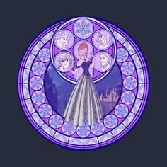 Disney's Frozen t-shirt in the style of the stained glass from Kingdom Hearts. This t-shirt was designed by Nicole Graham. Walt Disney, Cute Disney, Disney Magic, Frozen Fan Art, Anna Frozen, Disney Frozen, Kingdom Hearts, Disney Princess Art, Disney Fan Art