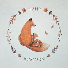 cute foxes by Nina Stajner