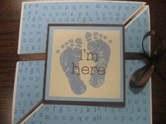 Baby Boy Announcement by bangert2 - Cards and Paper Crafts at Splitcoaststampers