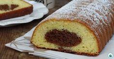Il plumcake variegato alla Nutella, perfetto a colazione o merenda. Soffice e goloso con la parte al cioccolato che rimane al centro....