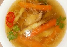 Vasárnapi húsleves | levendula receptje - Cookpad receptek Naan, Thai Red Curry, Soup Recipes, Food And Drink, Cooking, Ethnic Recipes, Soups, Kitchen Ideas, Kitchen