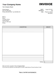 33 professional grade free invoice templates for ms word graphics
