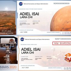 Nasa, Mission To Mars, Cape Canaveral, Boarding Pass, Florida, Instagram, Tuesday, Names, Photos