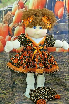 "Cabbage Patch Doll Cloths -  Halloween - Dress and Panties - fits 20"" doll #CabbagePatchKids"