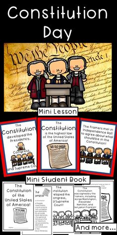 Help your students learn about Constitution Day with this mini lesson and activity packet! They will discover the meaning of the constitution, who the framers were, what the Constitution governs, and how the Constitution protects the people. Social Studies Notebook, Teaching Social Studies, Student Learning, History Education, Teaching History, Reading Stations, Constitution Day, American History Lessons, Grammar Activities