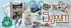 Mugs, Bells, Shot Glasses, Spoons, Magnets, Key Chains, Thimbles, Toothpick Holders, Salt & Pepper Shakers, Playing Cards, Can Coolers, Etc.  www.Lipco.biz