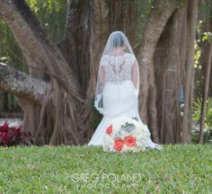 White Hydrangeas and Coral Rose Bouquet -  Florida Keys Weddings  Key Largo Lighthouse Weddings  Beach Weddings  Greg Poland Photography  http://www.floridakeysweddingcenter.com/wishes-to-weddings.html