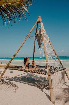 Bamboo House Design, Beach Cabana, Dream Beach Houses, Beach Cafe, Tulum Mexico, Mexico Resorts, Beach Design, Mexico Travel, Beach Resorts