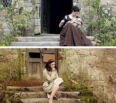 When Claire went back to Lallybroch, it was so sad.  Especially when she saw Jamie under the arch!