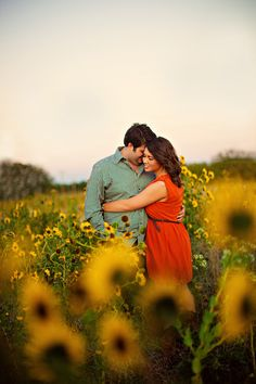 E-session in a field of sunflowers by Kayla Marie Photography. Engagement Couple, Engagement Pictures, Engagement Shoots, Engagement Ideas, Couple Photography, Engagement Photography, Sunflower Field Photography, Sunflower Pictures, Save The Date Photos