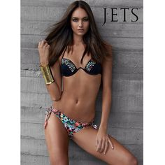 Embody modern and contemporary style in this new season #JETSswimwear ELABORATE bikini top & pant! Xx