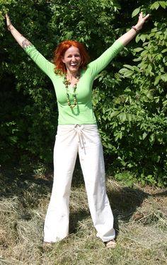 letní bavlněné kalhoty