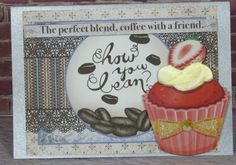 Handmade Greeting Card Gift Friend Any Occassion Birthday Cupcake