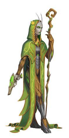 Lashunta Xenowarden Mystic - Starfinder RPG (Core Rulebook Art)