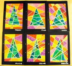 fun way to do a christmas art project without the usual crafts
