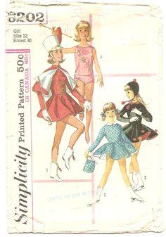1960' Patron Simplicity 6202 Costume de majorette et de patineuse Rétro Vintage Taille 12 Fillette vêtement enfant de la boutique aBirdOnMyHead sur Etsy