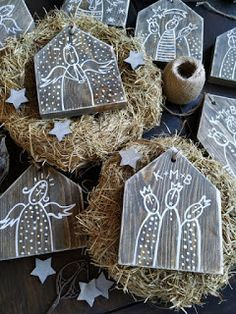Kid Friendly Art, Crafts For Kids, Arts And Crafts, School Clubs, School Projects, Nativity, Christmas Decorations, House Design, Cards