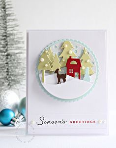 Hi thereThe last couple of years I have found the time to only create a few Christmas cards, with life and family losses etc I haven't had a chance to create many more let alone get them in the mail...I am hoping that will change this year..One of those products that I have had sitting for…