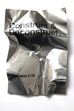 Construct & Deconctruct by Ra Bear from creative studio Not Now _